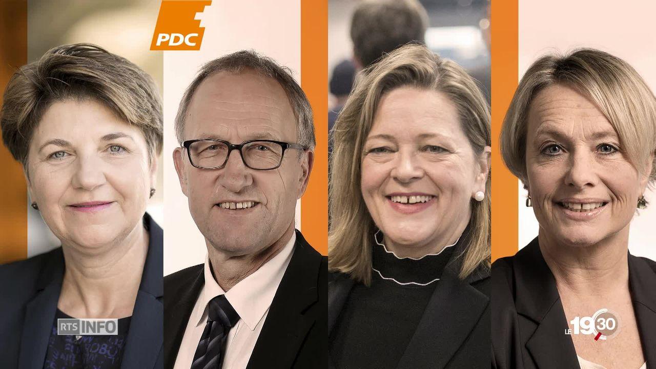 Succession au Conseil fédéral: quatre candidats PDC se sont déclarés. [RTS]