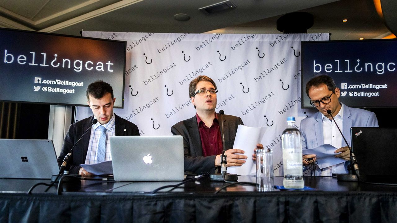 Le fondateur Bellingcat Eliot Higgins lors d'une conférence à Amsterdam en 2016. [Remko de Waal - EPA/Keystone]