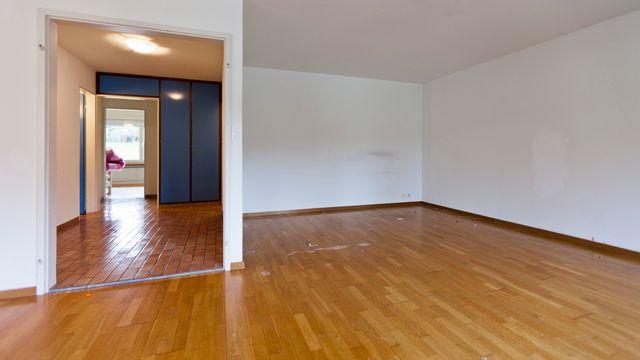 Un appartement vide à Zurich. [Gaetan Bally - Keystone]