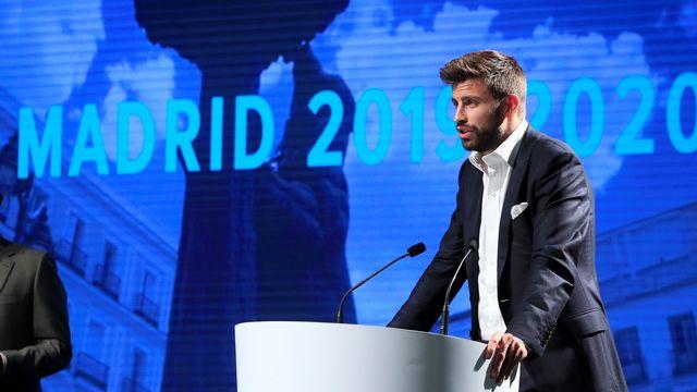 La nouvelle Coupe Davis est organisée par la société du célèbre footballeur du FC Barcelone Gerard Piqué.  [Fernando Alvarado - EPA - Keystone]