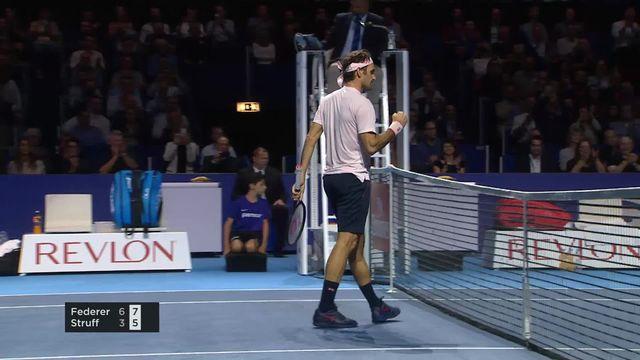 1-8e, Roger Federer (SUI) bat Jan-Lennard Struff (ALL) 6-3, 7-5: Federer passe facilement en quarts [RTS]