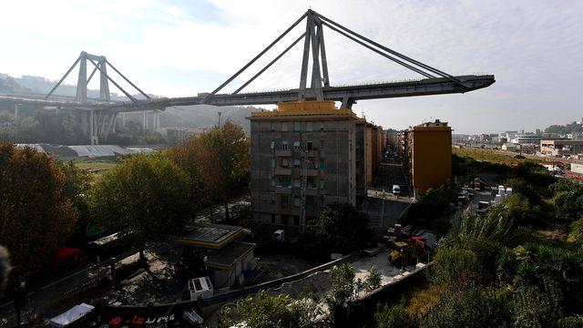 Le pont s'est effondré le 14 août 2018. [Luca Zennaro - EPA/Keystone]
