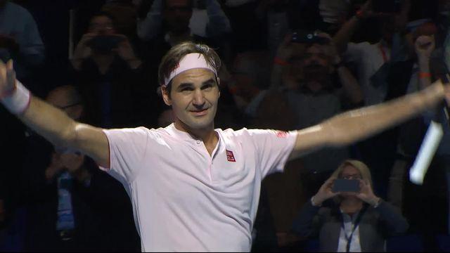 Roger Federer élimine le Français Gilles Simon à Bâle et se qualifie pour la demi-finale. [RTS]