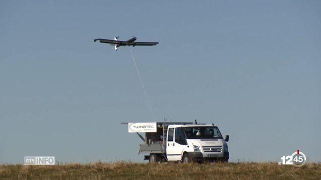 Ce drone produit de l'électricité grâce à un système de traction par une sorte de cerf-volant.  [RTS]