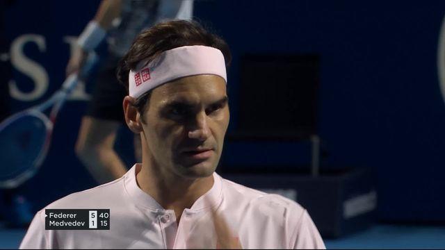 1-2, R. Federer (SUI) - D. Medvedev (RUS) (6-1): Federer gagne le premier set facilement [RTS]