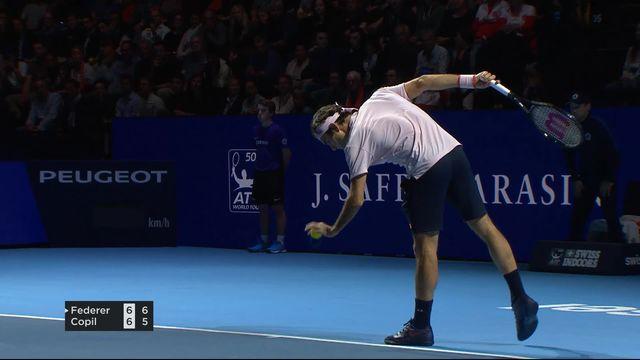 Finale, R. Federer (SUI) - M. Copil (ROU) (7-6): Federer gagne le premier set [RTS]