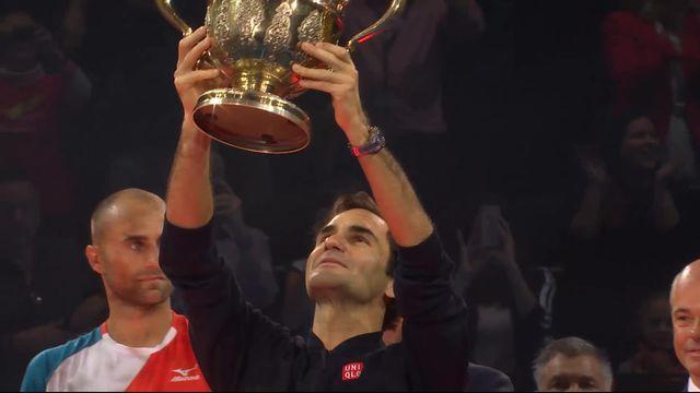 Finale, R. Federer (SUI) - M. Copil (ROU) (7-6, 6-4): la remise du trophée [RTS]
