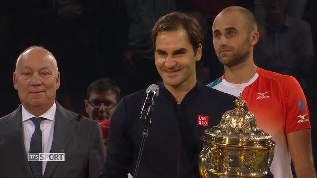Tennis, Swiss Indoors de Bâle: Federer signe sa 9e victoire [RTS]