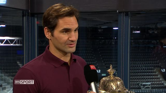 Tennis, Swiss Indoors de Bâle: Roger Federer à l'interview [RTS]