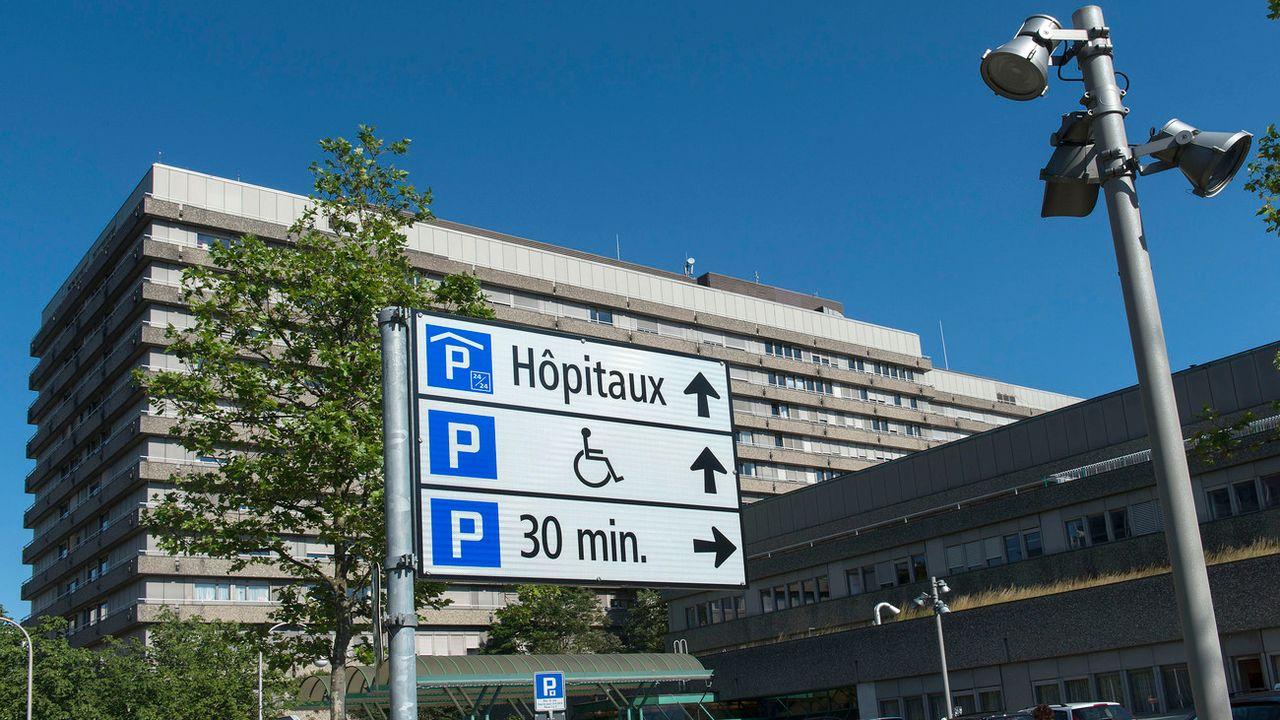 L'entrée du CHUV à Lausanne. [Sandro Campardo - Keystone]
