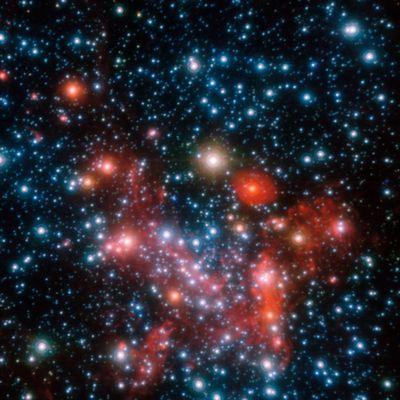 Les parties centrales de notre galaxie, la Voie Lactée.