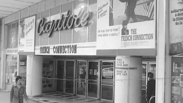 Le cinéma Capitole à Lausanne en 1972. [RTS]