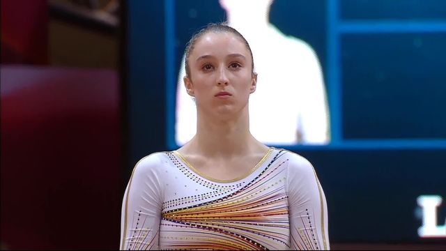 Doha (QAT), finales aux engins, barres asymétriques dames: Nina Derwael (BEL) devance Simone Biles (USA) et décroche l'or [RTS]