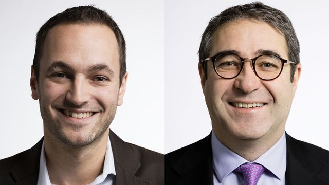 Mathias Reynard et Frédéric Borloz. [Gaëtan Bally - Keystone]