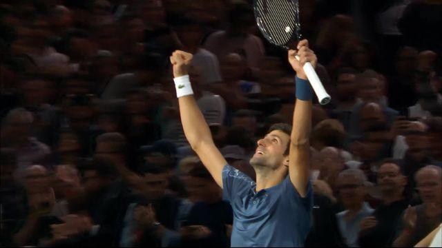 Paris-Bercy (FRA), 1-4 de finale, Cilic (CRO) battu par Djokovic (SRB) (6-4, 2-6, 3-6) [RTS]