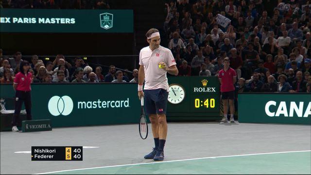 Paris-Bercy (FRA), 1-4 de finale, Nishikori (JPN) – Federer (SUI) (4-6): Federer remporte la première manche [RTS]