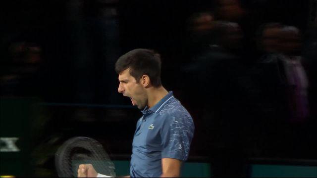Paris-Bercy (FRA), 1-2 : Federer (SUI) s'incline 7-6 (8-6) 5-7 7-6 (7-3) devant Djokovic (SRB) [RTS]
