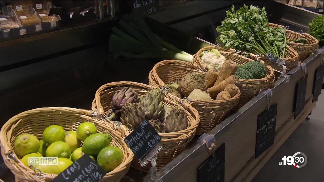 Les supermarchés 100% bio font leur apparition dans les villes romandes [RTS]