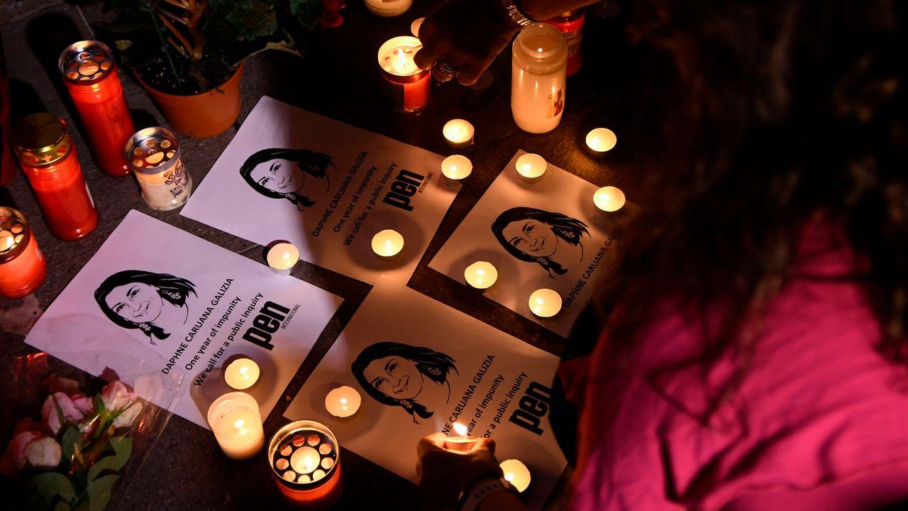 Il y a un an, la journaliste maltaise Daphné Caruana Galizia, spécialisée dans les affaires de corruption, mourrait dans l'explosion de sa voiture piégée. [Jonatahn Borg - keystone/AP Photo]