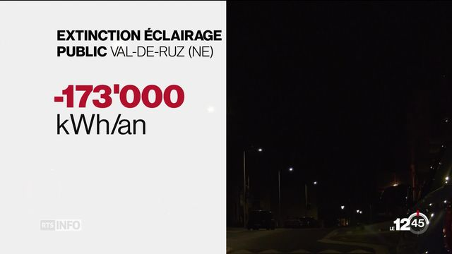 Le Val-de-Ruz s'apprête à devenir la plus grande commune du pays à éteindre son éclairage public la nuit dès la fin 2019. [RTS]