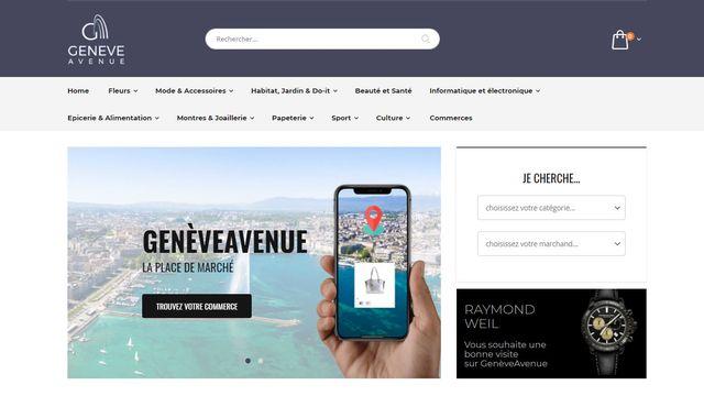 Capture d'écran du site GeneveAvenue.ch