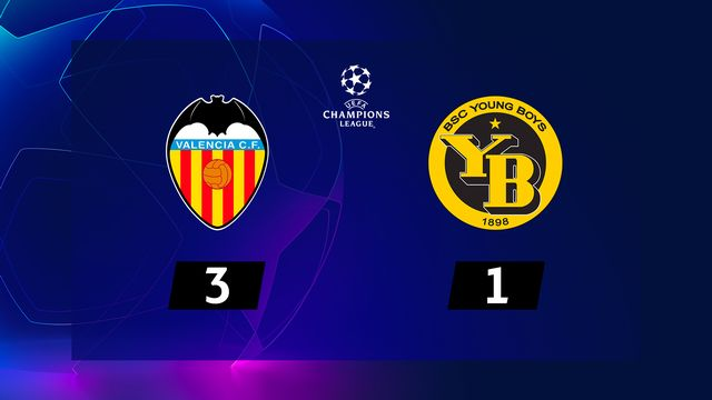 4e journée, Valence – Young Boys (3-1): YB s'incline 3-1 à Mestalla