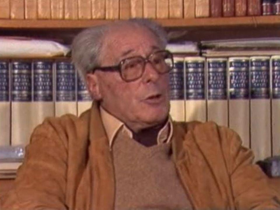 Maurice Zermatten interviewé en 1981. [RTS]