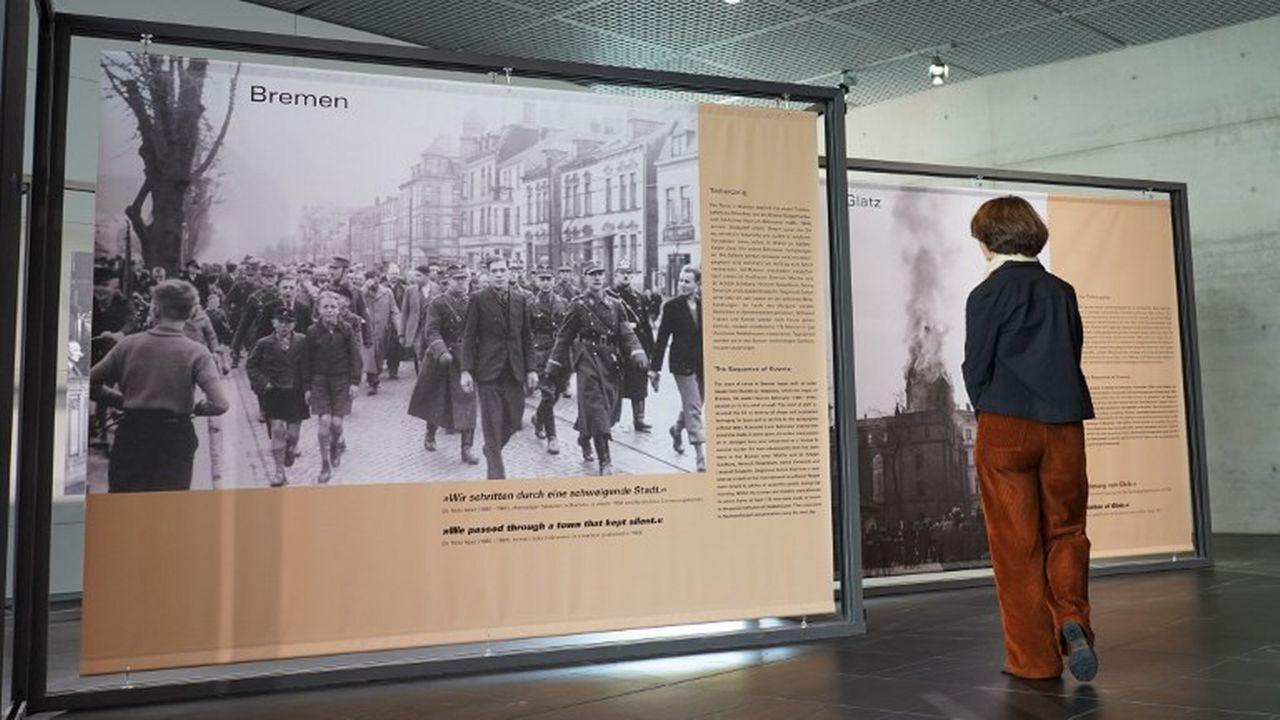 Une exposition consacrée à la Nuit de cristal a été mise sur pieds à Brême pour commémorer les 80 ans de cet événement. [Jörg Carstensen / DPA - afp]
