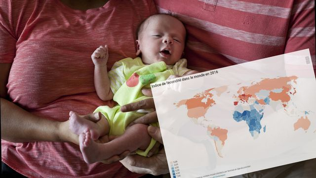 Le monde entier est concerné par la baisse du taux de fécondité. [Allison Joyce - AP Photo/Keystone]