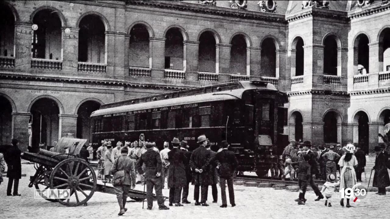 Il y a 100 ans, l'armistice de la Première guerre mondiale était signée dans un wagon à Rethondes en France. Un wagon devenu symbole de paix. [RTS]