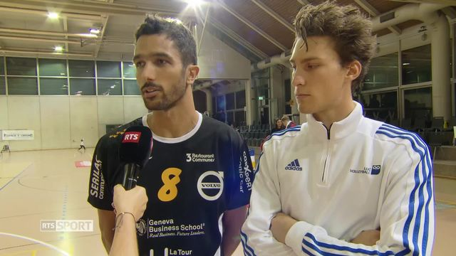 Volleybal: Quentin Zeller (Chênois) et Mathias Montavon (LUC) à l'interview [RTS]