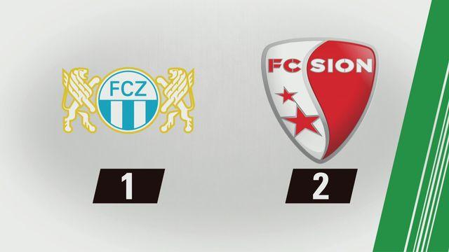 Super League, 14e journée: Zurich - Sion (1-2) [RTS]