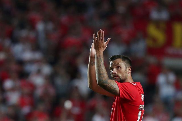 Haris Seferovic et le Benfica se sont imposés 3-1. [Pedro Fiúza - AFP]
