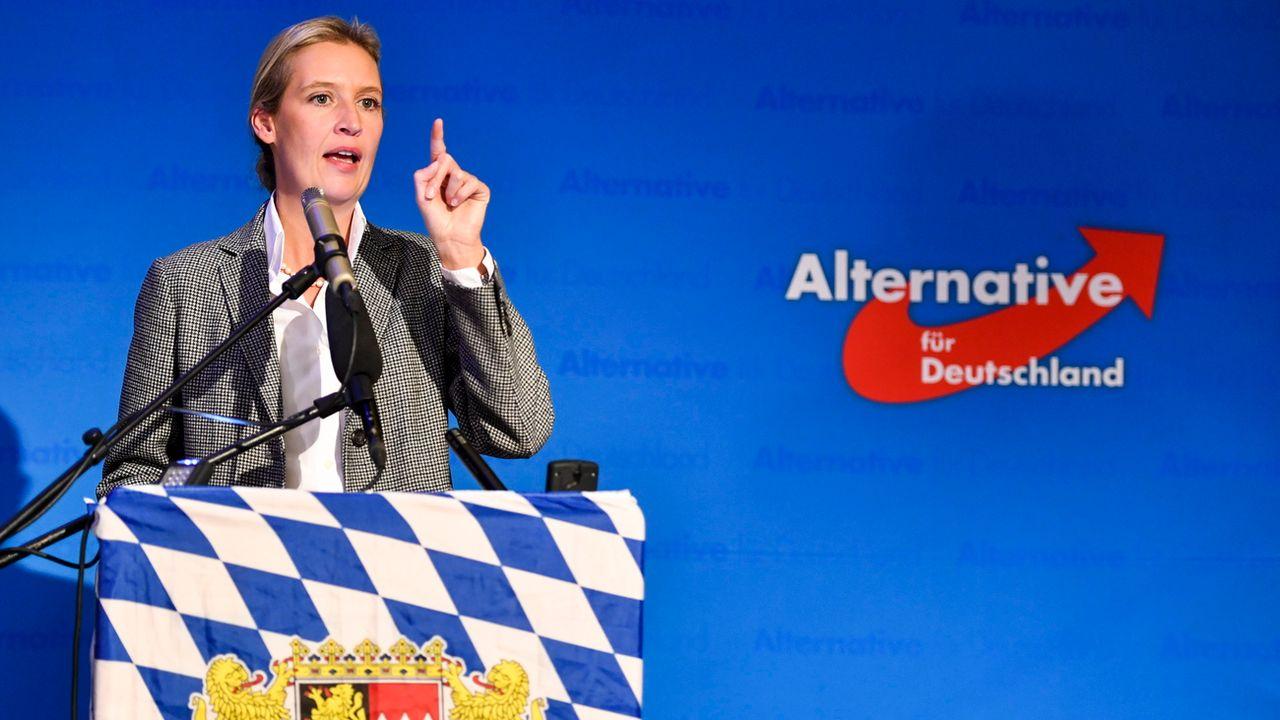 Alice Weidel est l'une des têtes du parti allemand d'extrême droite Alternative für Deutschland. [Lennart Preiss - Keystone/epa]