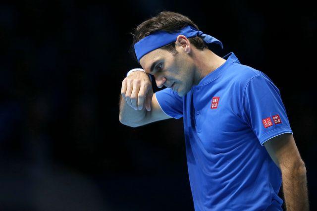 Roger Federer a vécu une soirée difficile face au Japonais. [Tim Ireland - Keystone]