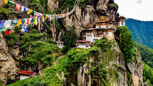 Vue de Taktshang Goemba au Bhoutan. [mc_noppadol - Fotolia]