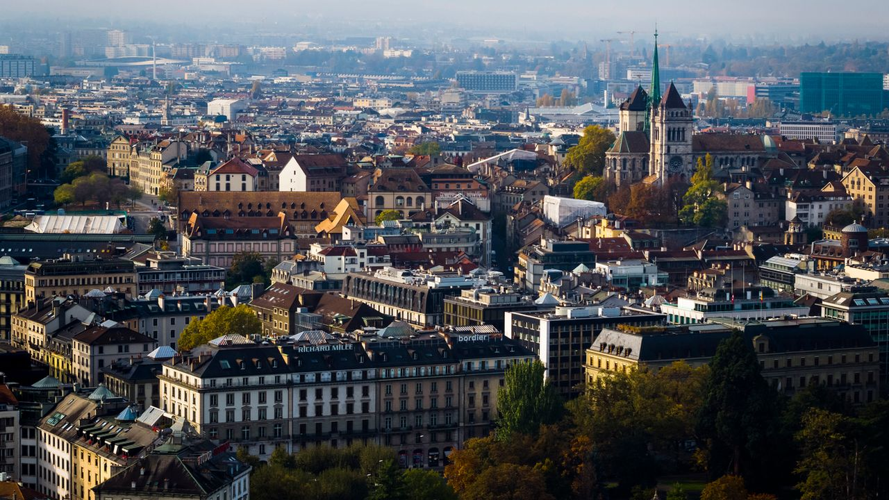 Une vue de la ville de Genève (image d'illustration). [Valentin Flauraud - Keystone]