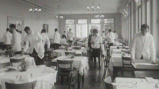 L'Ecole hôtelière de Lausanne en 1963. [RTS]
