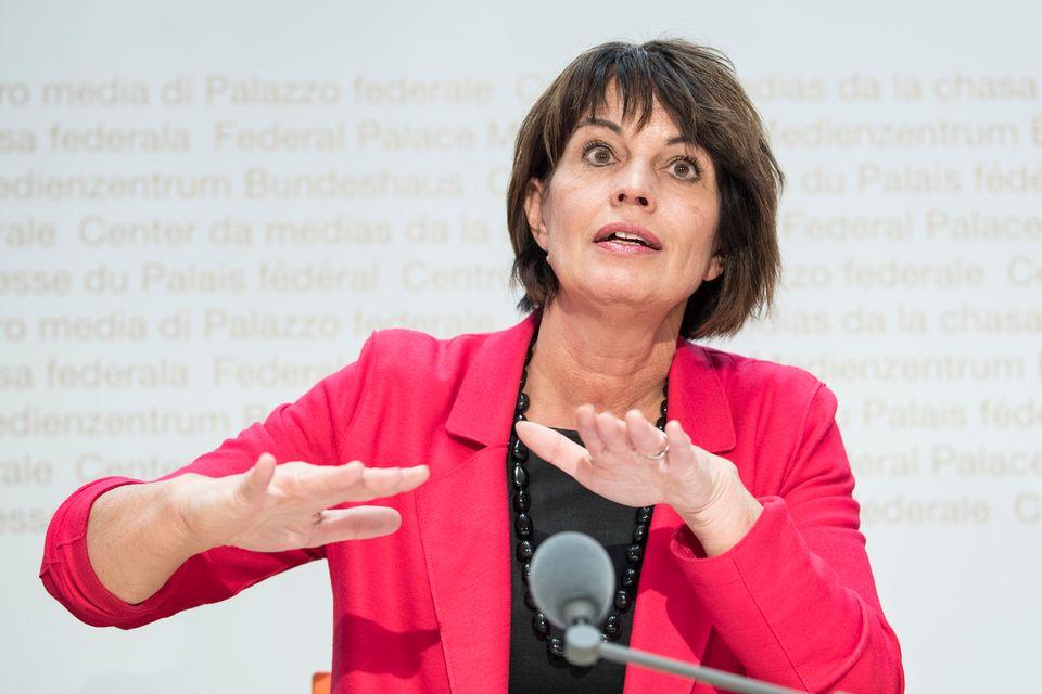 La conseillère fédérale Doris Leuthard, photographiée ici le 31 octobre 2018 à Berne. [Peter Schneider - Keystone]