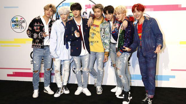 Le groupe de k-pop BTS lors des American Music Awards en novembre 2017. [Dave Bedrosian - DPA/AFP]