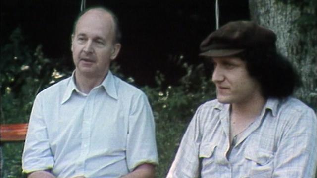 André Paul et Raymond Burki en 1979. [RTS]
