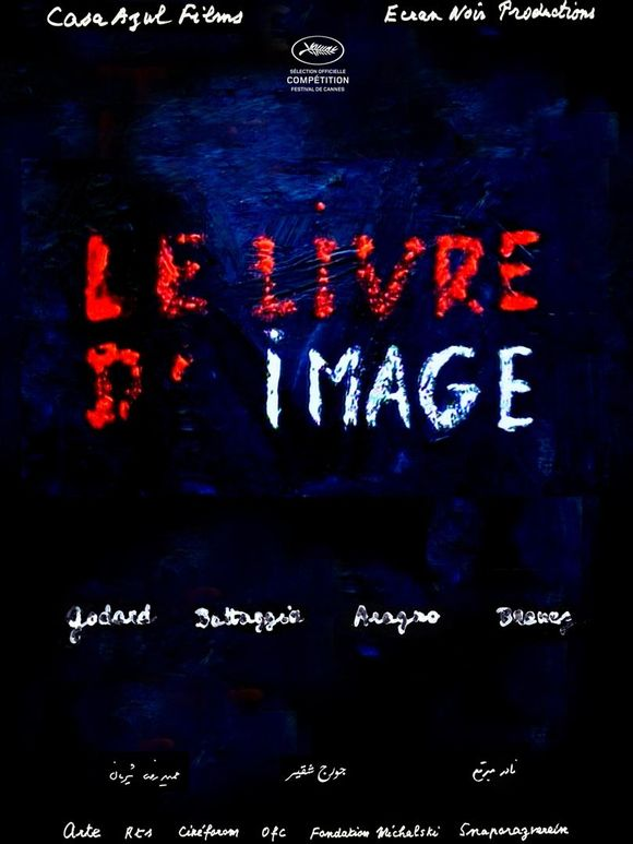 """L'affiche du film """"Le Livre d'image"""", de Jean-Luc Godard."""
