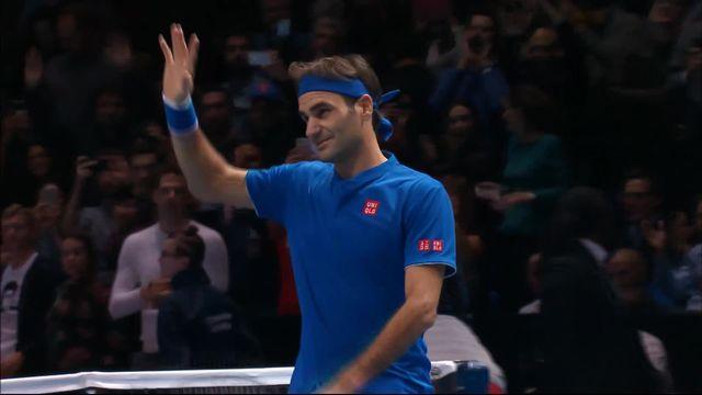 Round Robin, R.Federer (SUI) bat D.Thiem (AUT) (6-2, 6-3) [RTS]