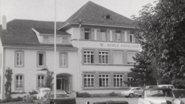 L'Ecole hôtelière de Lausanne, avenue de Cour, 1968. [RTS]