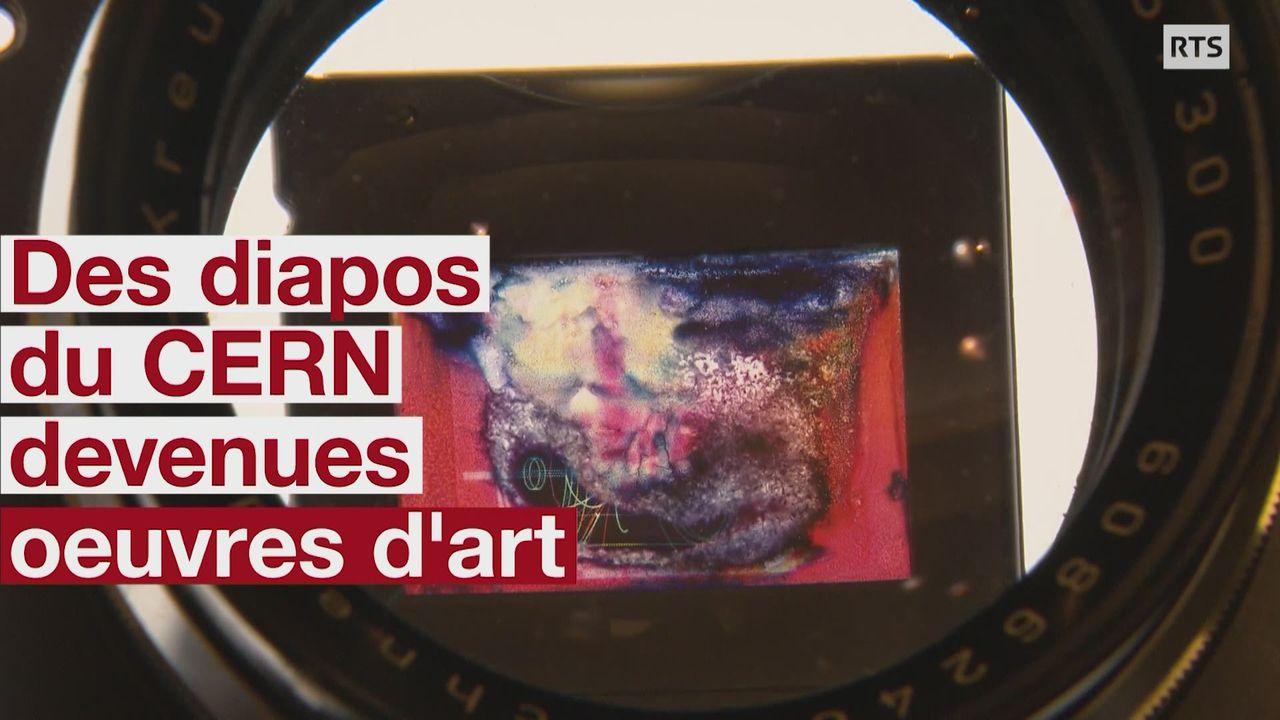 Des diapos endommagées du CERN devenues des oeuvres d'art [RTS]