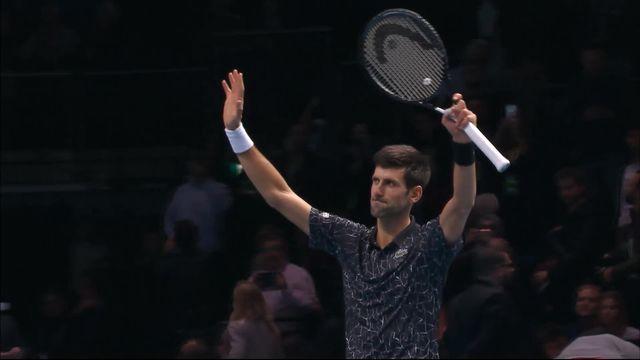 Round Robin, Novak Djokovic (SRB) bat Alexander Zverev (ALL) (6-4, 6-1) [RTS]