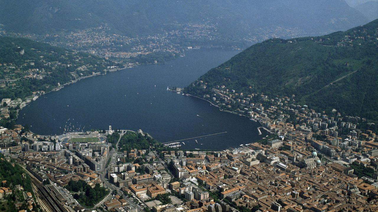 Vue aerienne de la ville de Côme et de son lac, Lombardie, Italie. [Luisa Ricciarini - AFP]