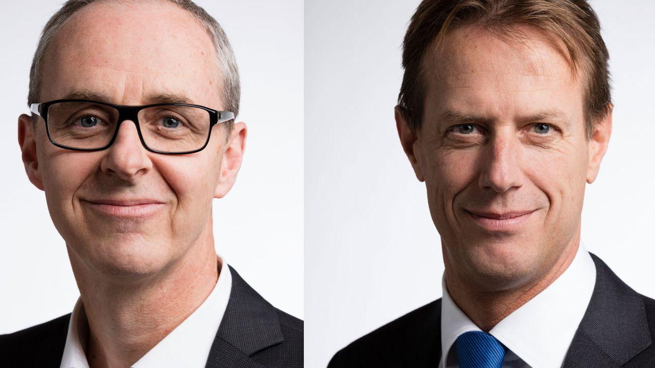 Benoît Genecand et Christian Lüscher se représentent au Conseil national. [Gaetan Bally - Keystone]