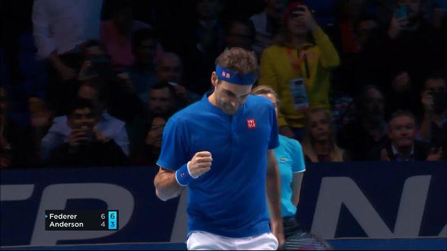 Round Robin, R.Federer (SUI) - K.Anderson (RSA) (6-4, 6-3): Federer prend la première place de son groupe [RTS]