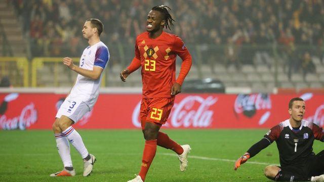 Michy Batshuayi a été le match-winner des Belges avec un doublé. [Virginie Lefour - AFP]